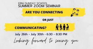 EBNJ Sunday School Summer Zoom Seminar @ Zoom Platform